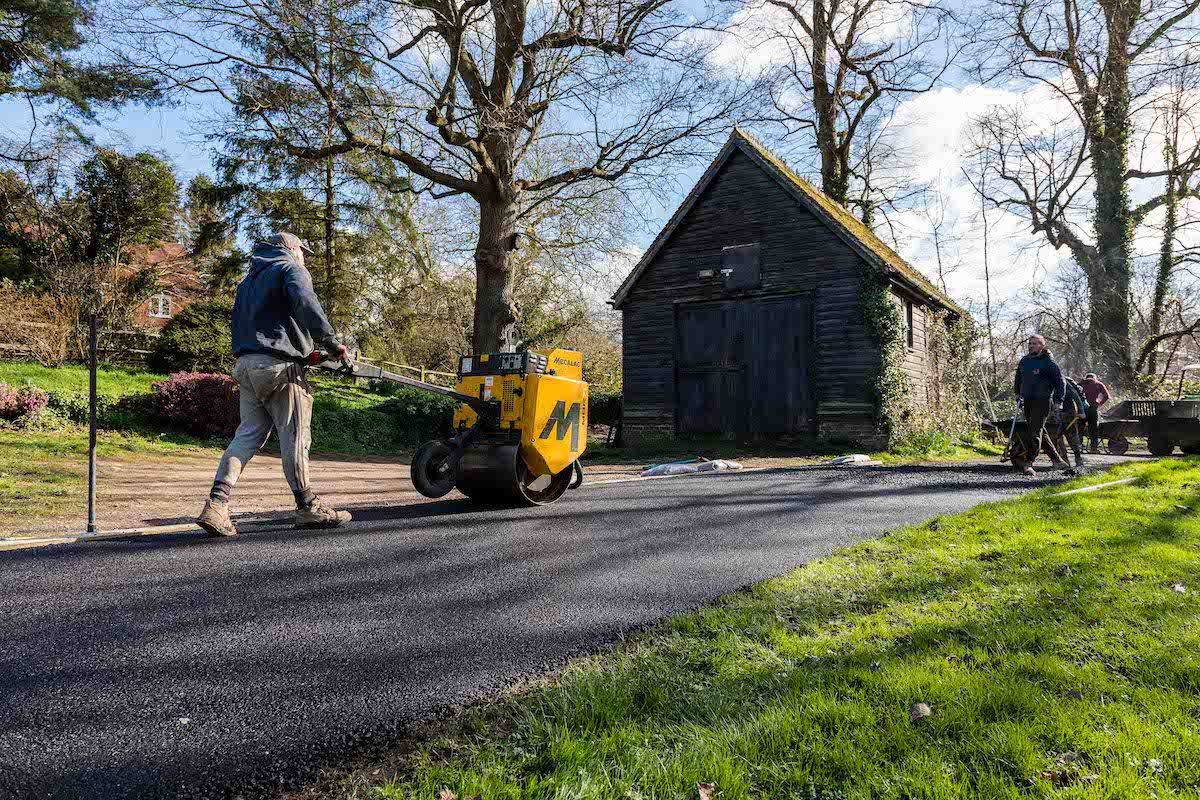 Jack & Sam Tarmacking Driveway | Old Wickhurst Land | SGS Surfacing