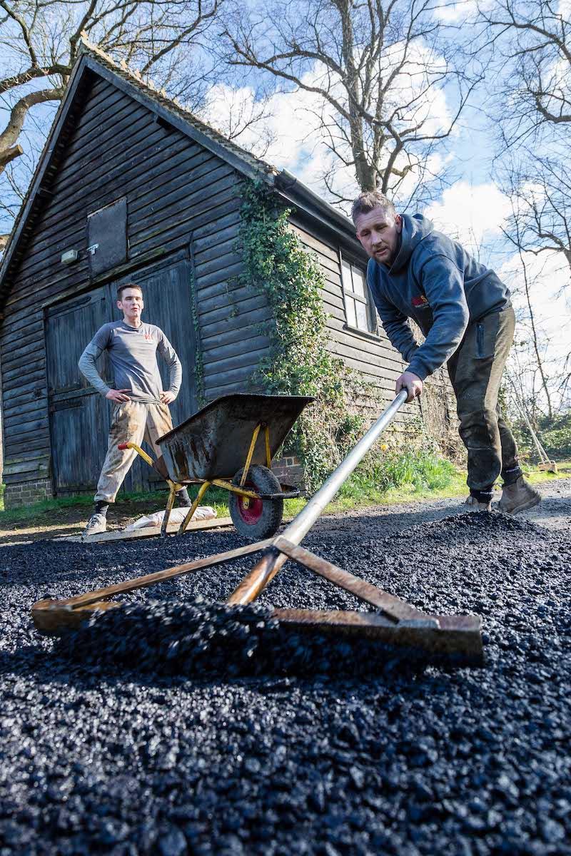 Zach & Lorne Tarmacking Driveway | Old Wickhurst Land | SGS Surfacing